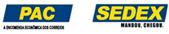 Formas de envio: Sedex e Pac